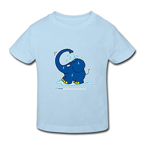 Sendung Mit Dem Elefanten Kleiner Elefant Dusche Kinder Bio-T-Shirt, 98-104, Hellblau