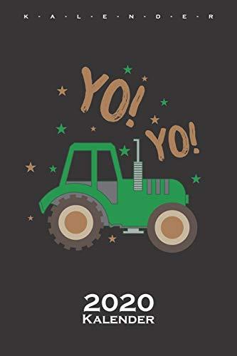 Traktor Trecker Kalender 2020: Jahreskalender für Kids und Kinder mit der Vorliebe zu Landwirtschaftsmaschinen