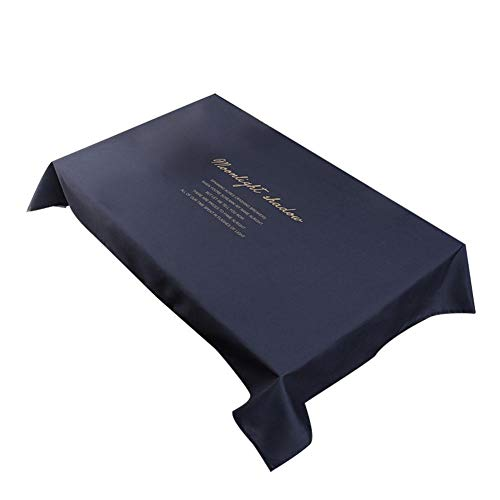 Demarkt tafelkleed, waterafstotend, lotuseffect, tafelkleed, linnenlook, tafelkleed 140 * 140cm donkerblauw
