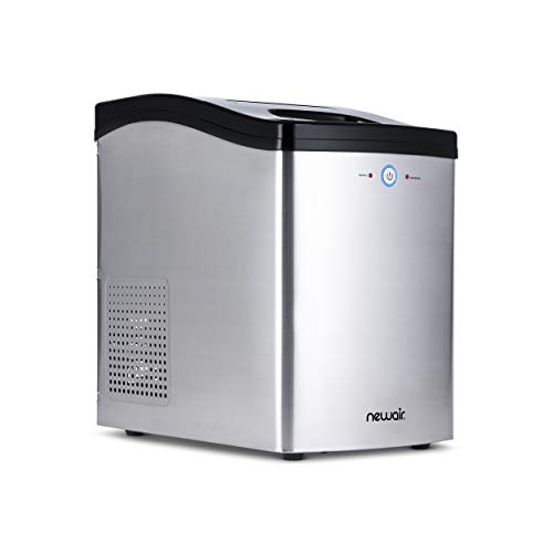 NewAir Countertop Nugget Ice Maker in Stainless Steel, 40 lbs. of Ice a Day with Melt-Resistant Interior and BPA-Free Parts, NIM040SS00