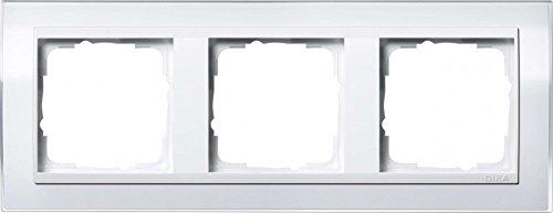 Gira 0213723 Abdeckrahmen 3-Fach Event klar weiß mit reinweißem Zwischenrahmen