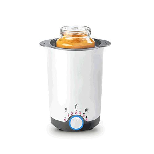 Elektrische Küchengeräte Warme Milch Thermostatheizung automatischer Flaschenwärmer Multifunktionsheizer Babykostwärmer & Warmhalteboxen (Color : Weiß, Size : 7 * 13cm)