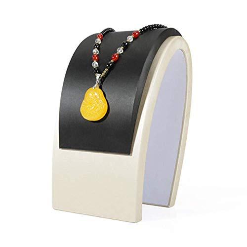 ZXL Lineaire Sieraden Display Organizer, PU Ketting Stand - Display Bust voor Statement Kettingen Ketting Hanger Ketting Choker Accessoires Opslag en Display (Ontwerp: B, Maat: Gratis)