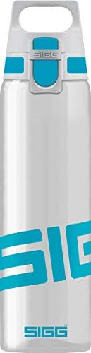 SIGG Total Clear ONE Aqua Trinkflasche (0.75 L), schadstofffreie und auslaufsichere Trinkflasche, leichte und bruchfeste Trinkflasche aus Tritan