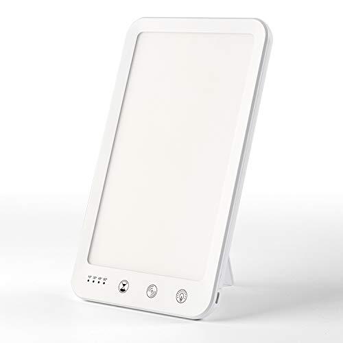 Tageslichtlampe, EOSVAP Tageslichtlampe 10000 Lux mit Memoryfunktion und Timer, 5 Helligkeitsstufen Dimmbar, Kaltes Weiß Licht, natürliches Licht, warmes Licht, Tageslicht-Simulation