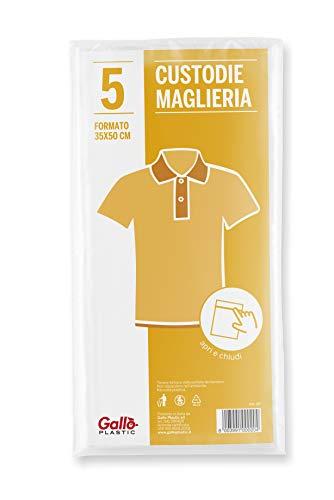 Gallo Antipolvere Custodia Maglie, Chiusura a presione, 5 Pz, 35x50 cm