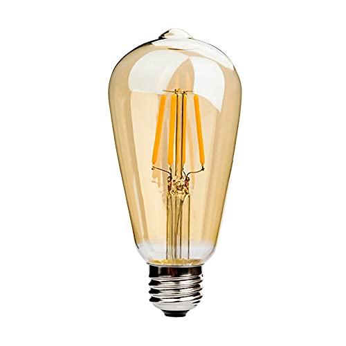 HKHuiKang ST64-1-8W - Juego de bombillas Edison E27, E26, 220 V, 6 W, 8 W, ST64, estilo Edison, estilo vintage, color blanco cálido,