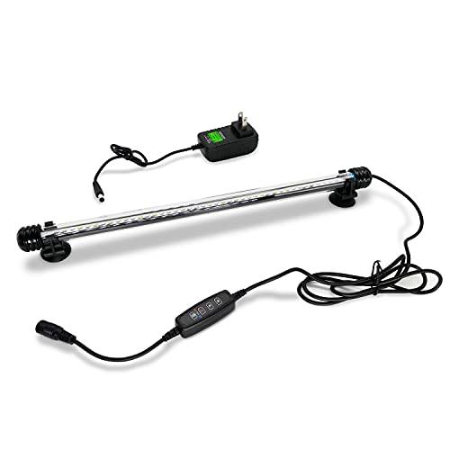 Karinear Aquarium Light Lampada subacquea a LED Luce Illuminazione Acquario Impermeabile LED con controllo e timer per Fish Tank, 28 cm