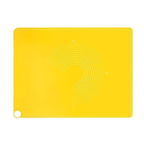 HYISHION Backunterlage aus lebensmittelechtem Silikon, Gelb, 1 Stück (Farbe: Gelb) Skyjie (Farbe: Gelb)