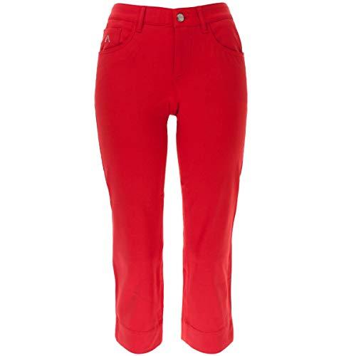 ALBERTO Damen 3/4 Golfhose Anja C 3xDry Coole in Rot Größe 36
