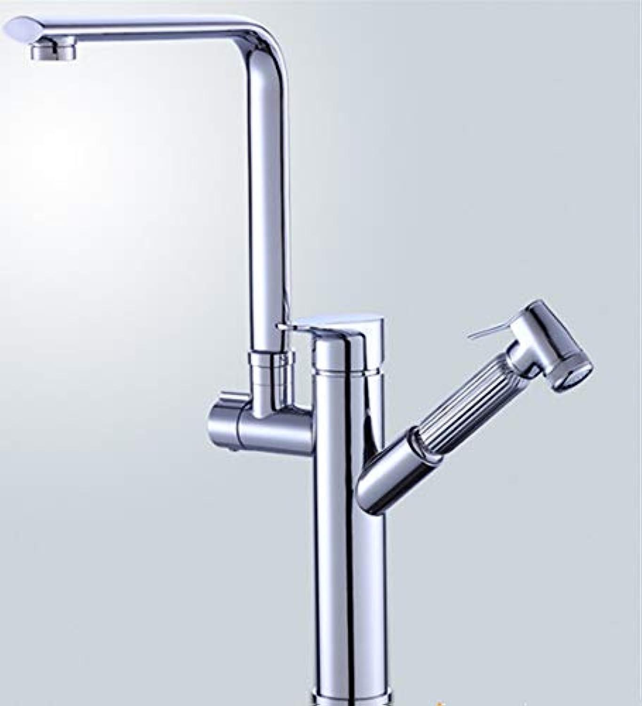 Teleskopic All-copper spritzwasser-sichere Wasserhahn-Küche hei und kalt pulsiertes Waschbecken Wasserbecken Waschbecken Waschbecken C2