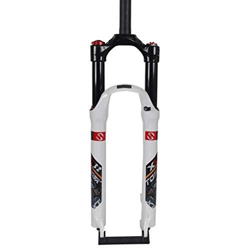 JZAMQ Horquilla De Suspensión para Ciclismo De 27,5', Control De Freno De Disco De Aleación De Aluminio MTB De 29 Pulgadas Ajuste De Amortiguación 1-1/8' Piezas De Bicicleta De Conducción De 1