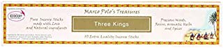 Marco Polo's Treasures Three Kings Incense Sticks, Three Kings, Pack of 10