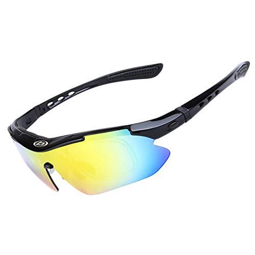 KADDGN Polarisiert Radfahren Sonnenbrillen Fahrrad-Brillen Männer Frauen Outdoor-Sport MTB Sonnenbrillen 5 Objektiv,B