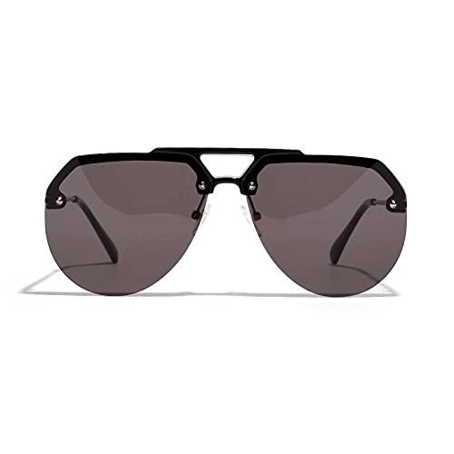 FENGHUAN Gafas De SolPara Hombre Gafas De Sol De Tendencia Hip-Hop Para Mujer Gafas Retro Negro