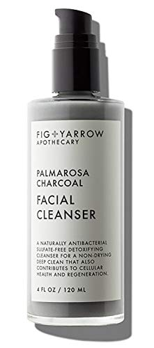 FIG+YARROW - Organic Palmarosa Charcoal Facial Cleanser   Non-Toxic, Clean Beauty