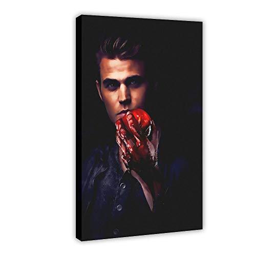 Poster del film The Vampire Diaries, poster in tela di canapa, decorazione per camera da letto, sport, paesaggio, ufficio, decorazione regalo, 60 x 90 cm