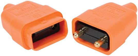 2 PIN ORANGE RUBBER CONNECTOR 10A IN-LINE GARDEN LAWNMOWER 2PFC10 PLUS ABM LAMP CATALOGUE by MERCURY