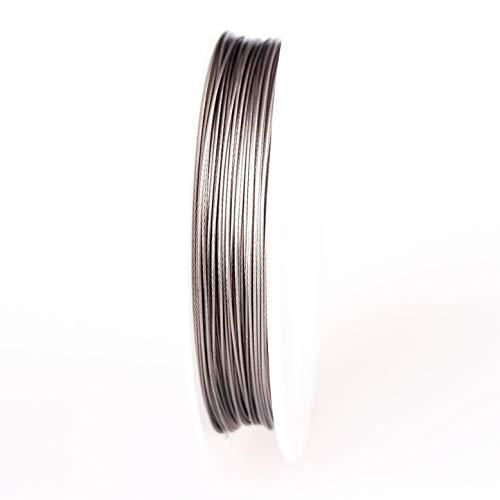Creacraft Alambre de acero inoxidable, alambre de modelado 0,5 mm, bobina de...