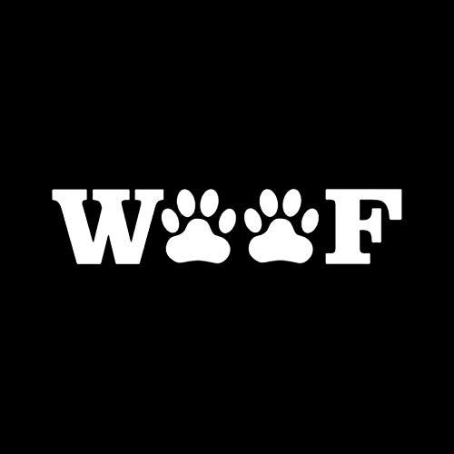 WYLYSD Auto-Aufkleber 15,2 cm X 3,3 cm Schuss Pfotenabdrücke Haustier Aufkleber Auto Aufkleber Tier Rettungshund Schwarz/Silber C10-00462