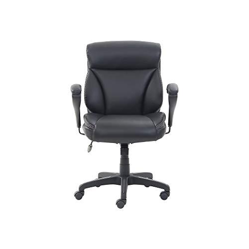 Dormeo Leather Task Chair, Black