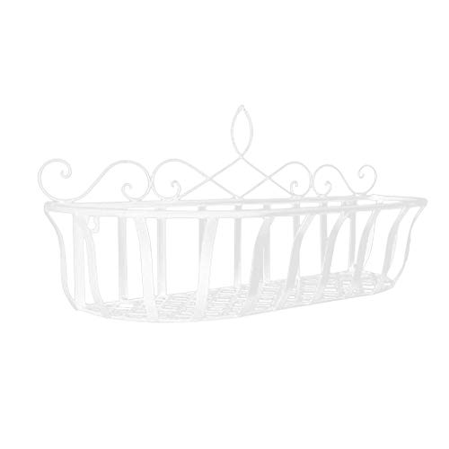 SM SunniMix Blumenhänger Pflanzkasten Blumenhalter Wandregal Regal - 450x150x250mm Weiß