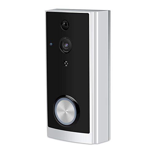 Bewinner Telecamera per Campanello WiFi di Sicurezza, Low Consumption 720P WiFi Videocamera Campanello Wireless Supporto per Alexa Echo, modulo di Ricezione e invio Super WiFi Integrato