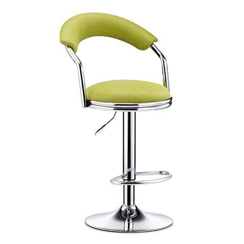 ZHJBD Furniture Stool/Loungekruk, zonder wieltjes, verstelbare stoelen en barkrukken, met rugleuning, draaibare stoelen voor kantoor thuis