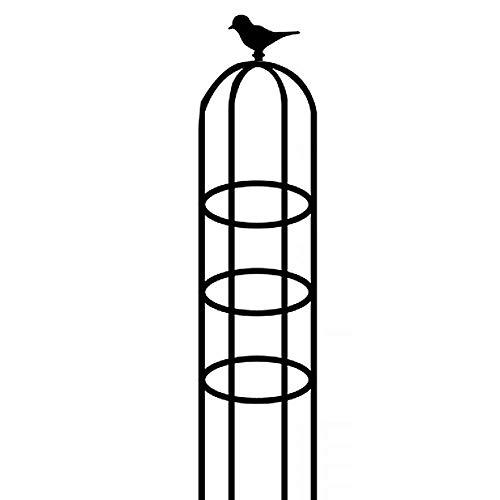 Obelisco De Jardín Negro Fuerte Jaula Tubular para Plantas para Rosas Soporte De Plantas Trepadoras Estructura De La Decoración del Jardín Jaulas De Soporte para Plantas De Jardín