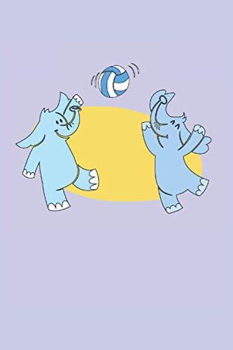 Gli elefanti giocano a motivi di pallavolo per bambini: Quaderno regali animali divertenti foderato (formato A5, 15,24 x 22,86 cm, 120 pagine) (Italian Edition)