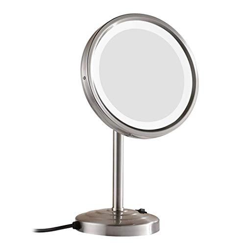 Miroir de courtoisie de 8 pouces LED avec lumières, miroir de beauté de salle de bains de grossissement 3x avec 21 lumières de LED, miroir tournant de 360 fonctions/miroir de maquillage