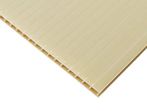 【国産5枚入】プラダンシート 巾900mm ×長1200mm 厚5mm 5枚セット (ベージュ)