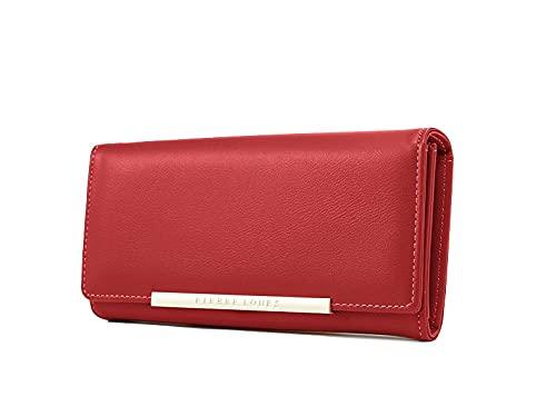 cartera roja mujer fabricante Pierre Loues