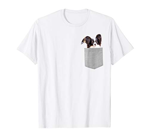 Dog in Your Pocket papillon T-shirt