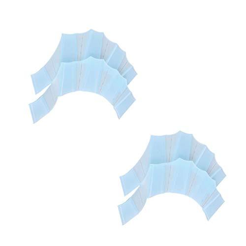 KSUDE Frosch-Finger-Handschuhe, 2 Stück, Silikon-Handschellen, Schwimmflossen, Handschellen, Schwimm-Handflosse, verbessert den Rutsch, Schwimm-Handschuh-Ausrüstung (blau, M)