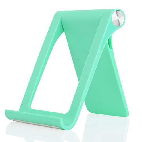 Desk Cell Phone Stand Holder - Uniwit Multi-Angle Adjustable Phone Desk Stand Tablet Holder for iPhone 13 12 11 Pro Max XS XR 8 Plus 6 7 Samsung Galaxy S10 S9 S8 S7 Edge S6 Android Smartphone