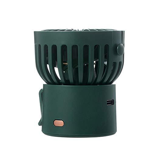 Aprimay Mini ventilador de mano con 3 velocidades, pequeño ventilador de energía con cuerda colgante tipo C USB recargable ventilador de escritorio giratorio de 45 grados