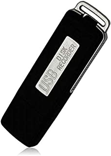 8GB USB Flash Drive with Voice-Recorder for school and work in Black