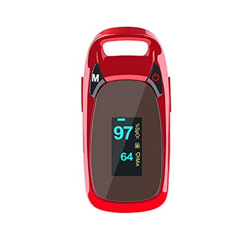 YUXINCAI Oximetría Portátil Monitor De Saturación De Oxígeno En Sangre Lecturas del Oxímetro De Pulso De Dedo SpO2 con Pantalla LED para Adultos Y Niños, Medición Precisa Y Fácil De Usar