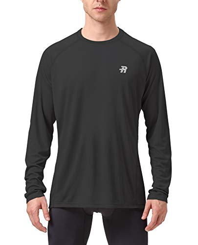 Runhit Long Sleeve Sun UV T-Shirt Mens Workout Running Fishing Dri Fit Gym Shirt