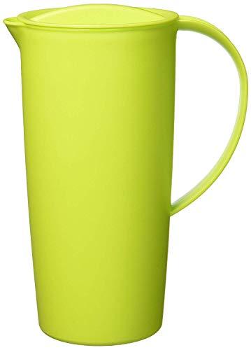 Rotho Caruba Krug 1.2l mit Deckel und Ausguss, Kunststoff (PP) BPA-frei, grün, 1,2l (16,0 x 10,5 x 22,0 cm)