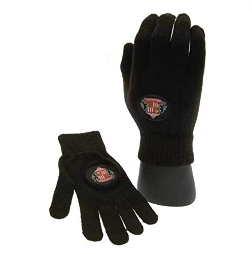 Sunderland A.F.C. Sunderland A.F.C Knitted Gloves Junior Official Merchandise, One Size, Black