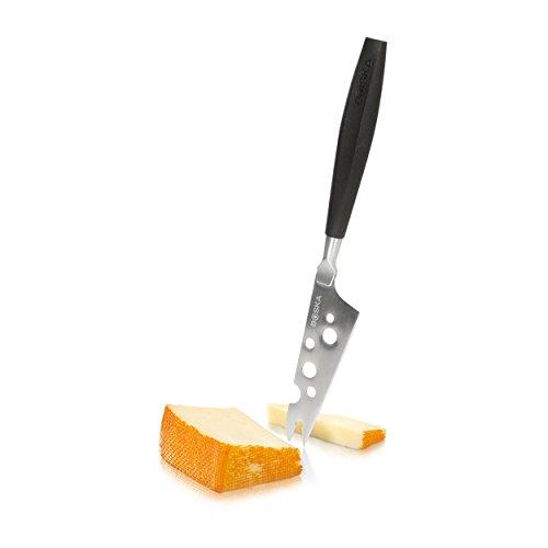 BOSKA 306846 Couteau à Fromage, Acier Inoxydable, Argent/Noir, 29 x 8 x 2 cm