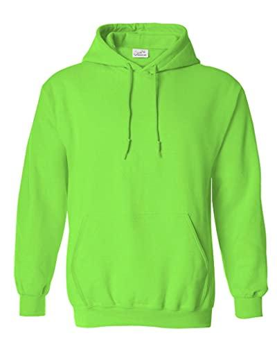Joe's USA Hoodies Soft & Cozy Hooded Sweatshirt,Small Neon Green