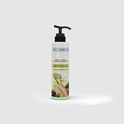 Gel Facial Purificante Con Baba De Caracol Y Extracto De Manzana 250ml, Gel Limpiador Facial con Extractos Naturales