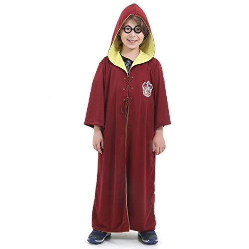Sulamericana Fantasias Harry Potter Quadribol Infantil, P 3/4, Vermelho/Amarelo