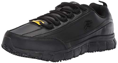 Fila Women's Memory Radiance Slip Resistant Work Shoe Hiking, Black, 8.5