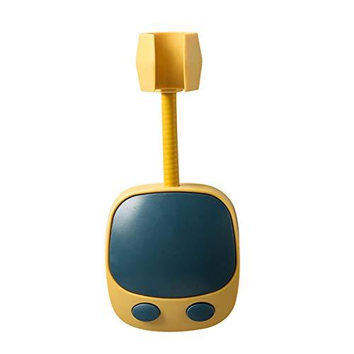 Soporte de cabezal de ducha autoadhesivo con ganchos para cabezal de ducha universal, sin perforaciones, ajustable