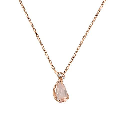 Oro Rosa De 18 Quilates Collar Colgante para Mujer, Hecho con Oro Rosa, Cadena De Joyería