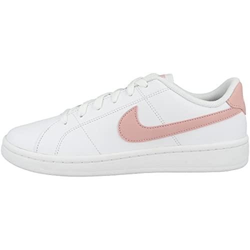 Nike Court Royale 2, Zapatos de Tenis Mujer, White/Pink Glaze, 40.5 EU